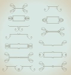 Hand-drawn vintage design elements set vector