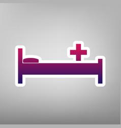 Hospital sign purple vector