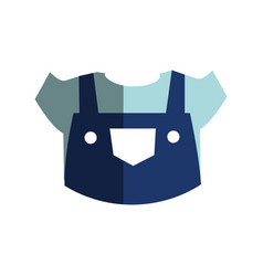 Mechanic uniform isolated icon vector