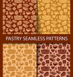 Patterns of pastry vector