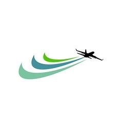 Plane Vacation Travel Plane Travelling Transportat vector image