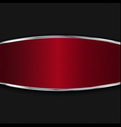 Red and black metal background vector image vector image
