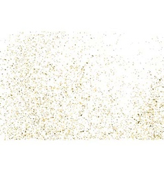 Gold glitter texture white rectangle vector