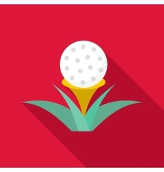 Golf ball icon flat style vector