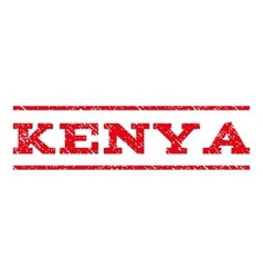 Kenya watermark stamp vector