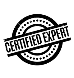 Certified expert rubber stamp vector