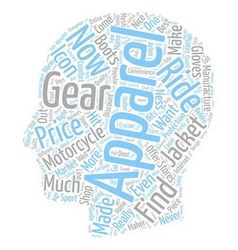 Popular motorcycle apparel and gear guide text vector