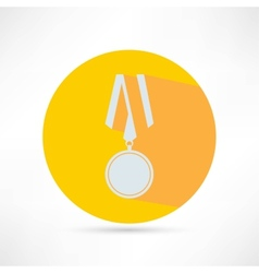 golden medal isolated vector image