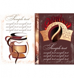 coffee tea banners vector image
