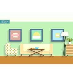 Flat interior room vector
