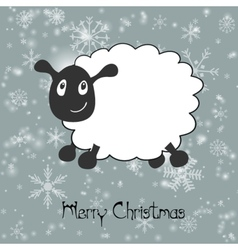 With sheep greeting card christmasnew year 2015 vector