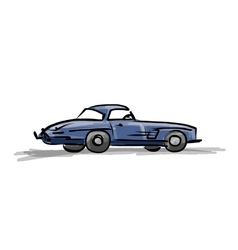 Retro sport car sketch for your design vector