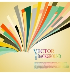 Moving colorful abstract background vector image