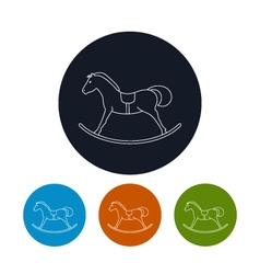 Icon of a rocking horse vector