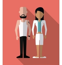 Couple of humans design vector