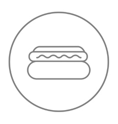 Hotdog line icon vector