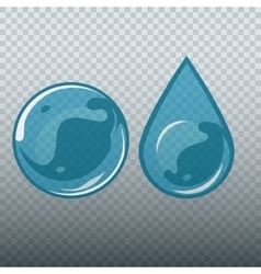 Transparent underwater bubble and drop vector