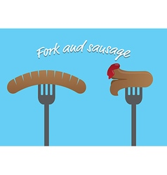 Sausage and cocktail vector