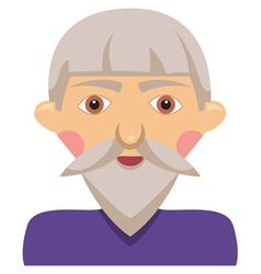 Cartoon elderly man vector