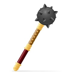 battle mace 01 vector image vector image