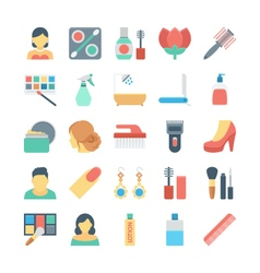 Beauty and SPA Colored Icons 2 vector image