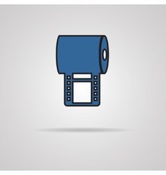 Box with film icon - vector image