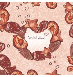 chocolate pattern vector image vector image