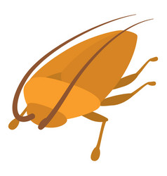 cockroach icon cartoon style vector image