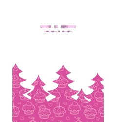 Colorful cupcake party christmas tree silhouette vector