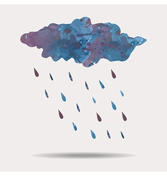 colorful of watercolor rainy cloud vector image vector image