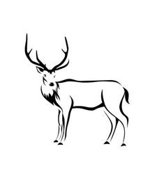 deer figure vector image