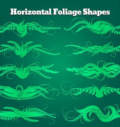 foliage shapes vector image vector image