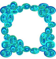 Frame with ovals vector
