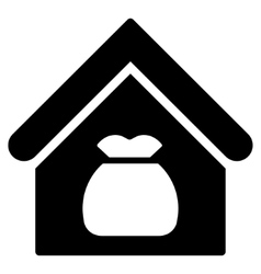 Harvest warehouse flat icon vector