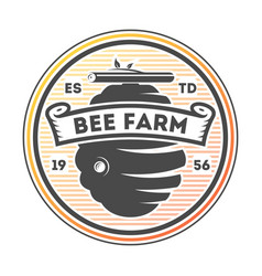 Honey farm vintage isolated label vector