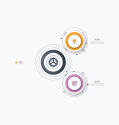 infographics template 2 options with circle vector image vector image