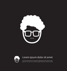 Isolated young person icon male element vector
