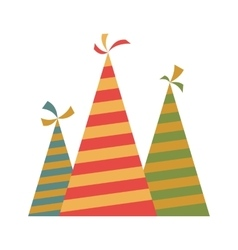 Party hat flat icon vector image