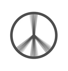 Peace sign gray icon shaked vector