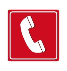 Phone call red signal vector