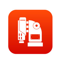pneumatic hammer machine icon digital red vector image vector image