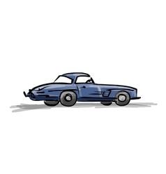 Retro sport car sketch for your design vector
