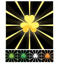 shamrock and sunburst vector image vector image