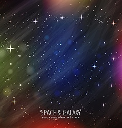 Space background with colorful lights vector