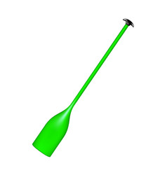 sporting oar in green design vector image vector image