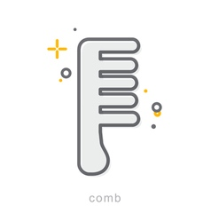 Thin line icons Comb vector image