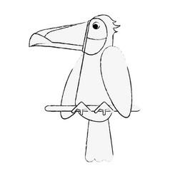 Tucan bird cartoon vector