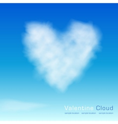 Valentine cloud vector image vector image