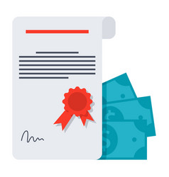 Scientific grant icon vector