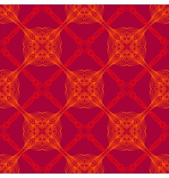 Neon red pattern with renaissance motifs vector